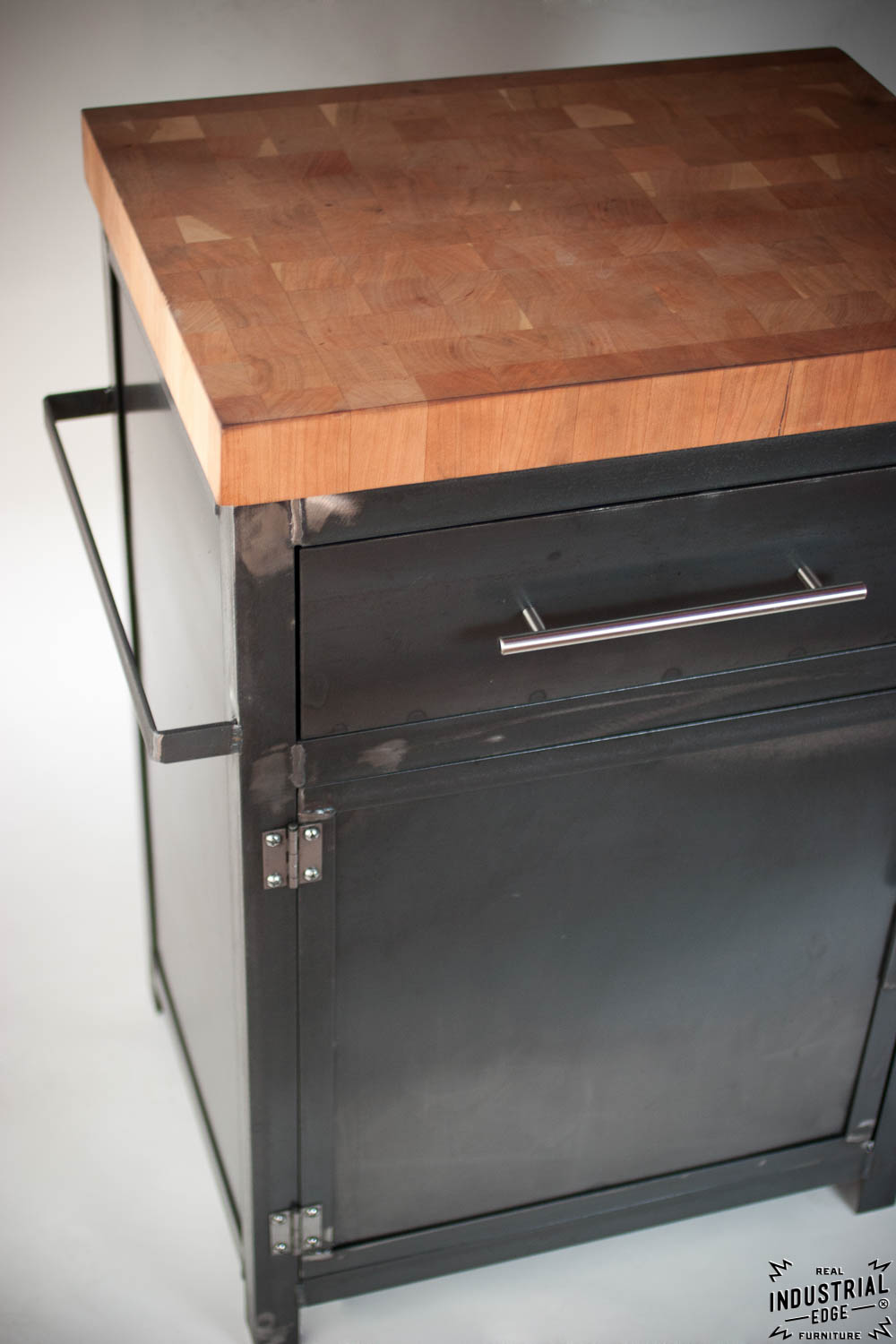 Kitchen Prep Stand / Boos Butcher Block Top ? Real Industrial Edge Furniture Custom ...