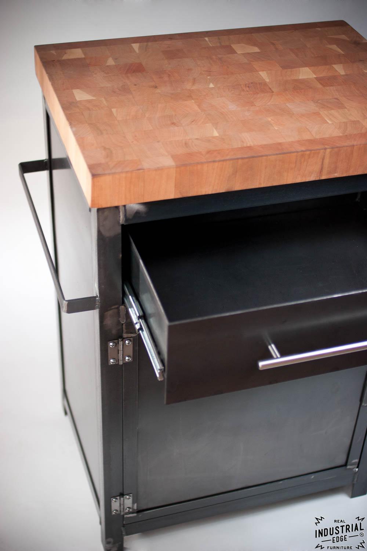 kitchen prep stand boos butcher block top u2013 real industrial edge