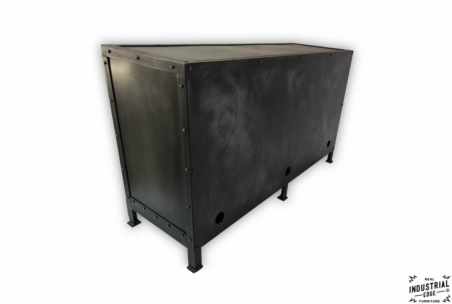 Cold Roll Steel Media Cabinet / Charcoal Patina – Real Industrial ...