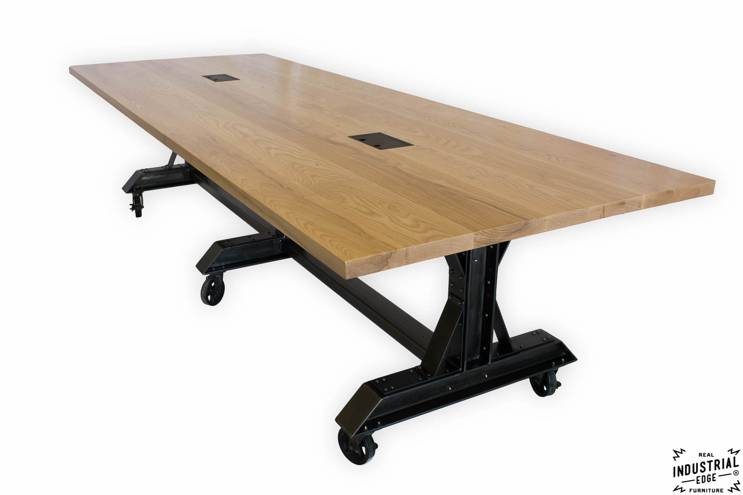 Ash Amp Steel Rolling Conference Table Real Industrial