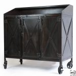 Industrial Custom Hostess Stand / Rolling / 3 Door