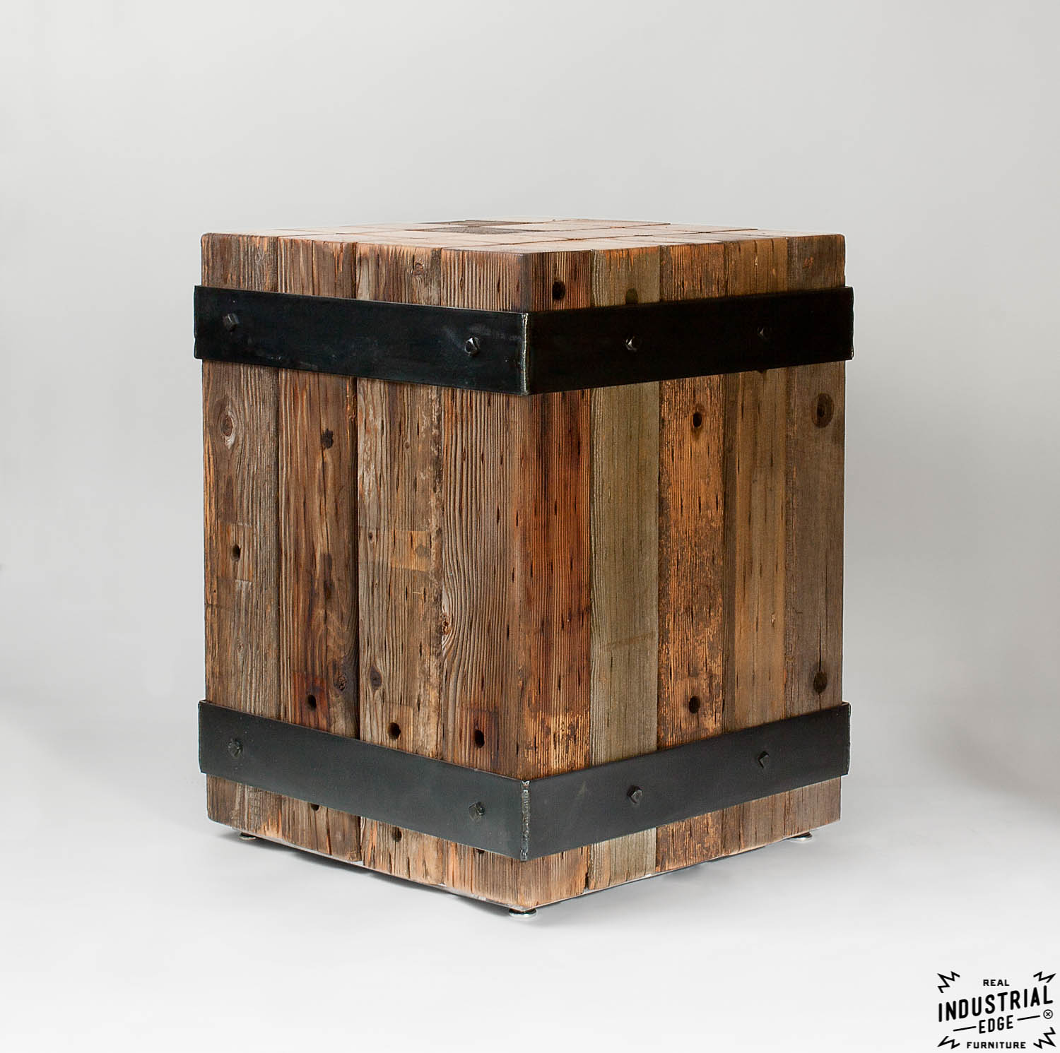 Reclaimed Beam Table Bistro Table Real Industrial Edge