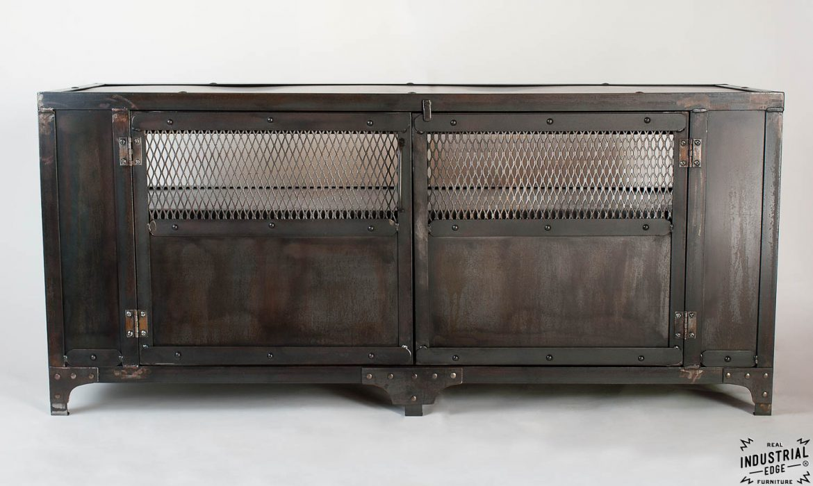 Custom Industrial Media Cabinet / Steel 2 Door
