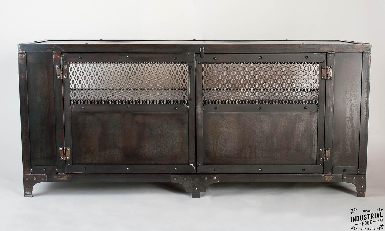 industrial media furniture. Custom Industrial Media Cabinet / Steel 2 Door Furniture A