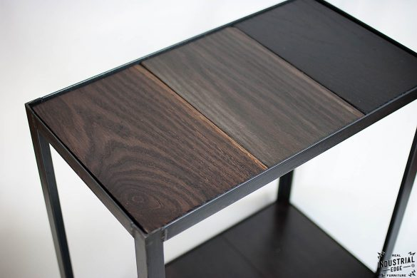 Accent Table / Oak & Steel