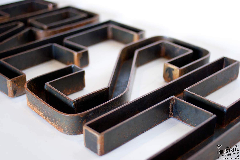 Custom Metal Letters Custom Metal Letters  12 Inch  Real Industrial Edge Furniture