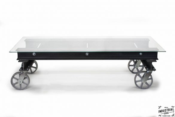 I Beam Coffee Table / Glass Top