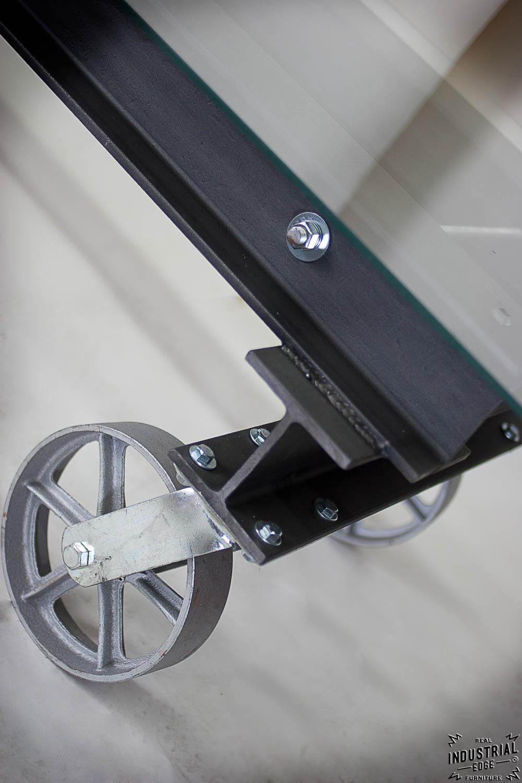 i beam coffee table glass top u2013 real industrial edge furniture