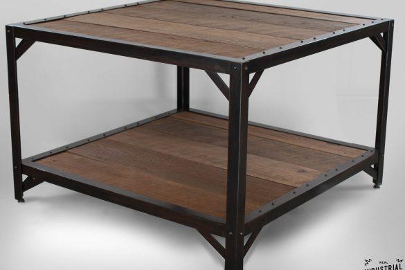 Coffee Table / Reclaimed Oak & Steel