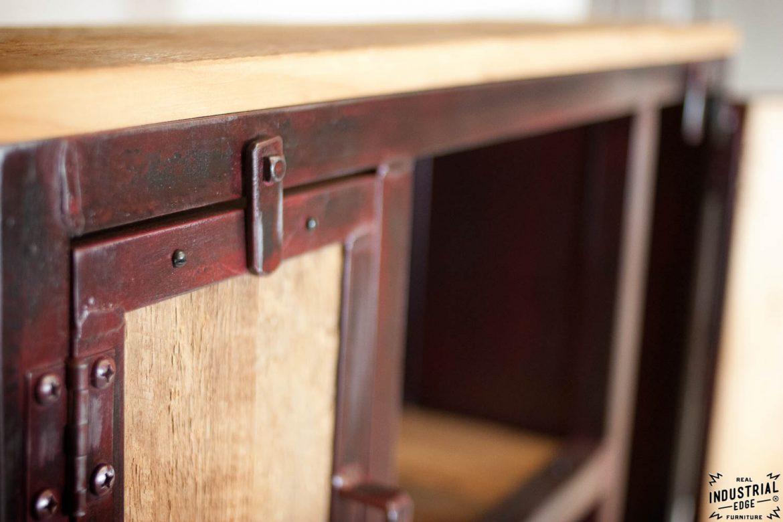 Industrial Entryway Shelf / Red Patina & Reclaimed Hemlock