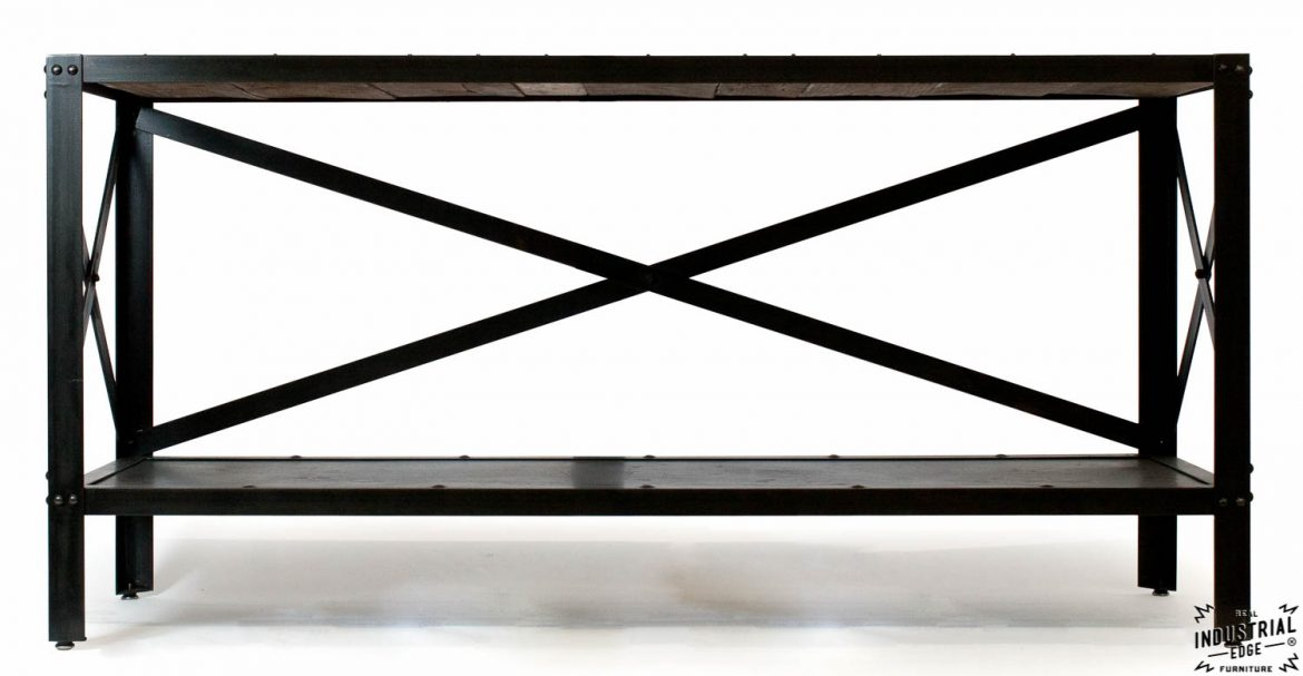 Console Table / Reclaimed Oak & Steel