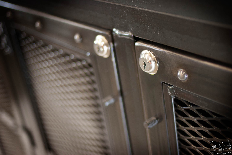 Custom Locking Wine Cellar Cabinet Steel Amp Reclaimed Oak