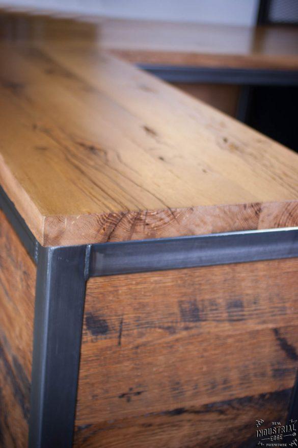 Reclaimed Wood Amp Steel Reception Desk Real Industrial