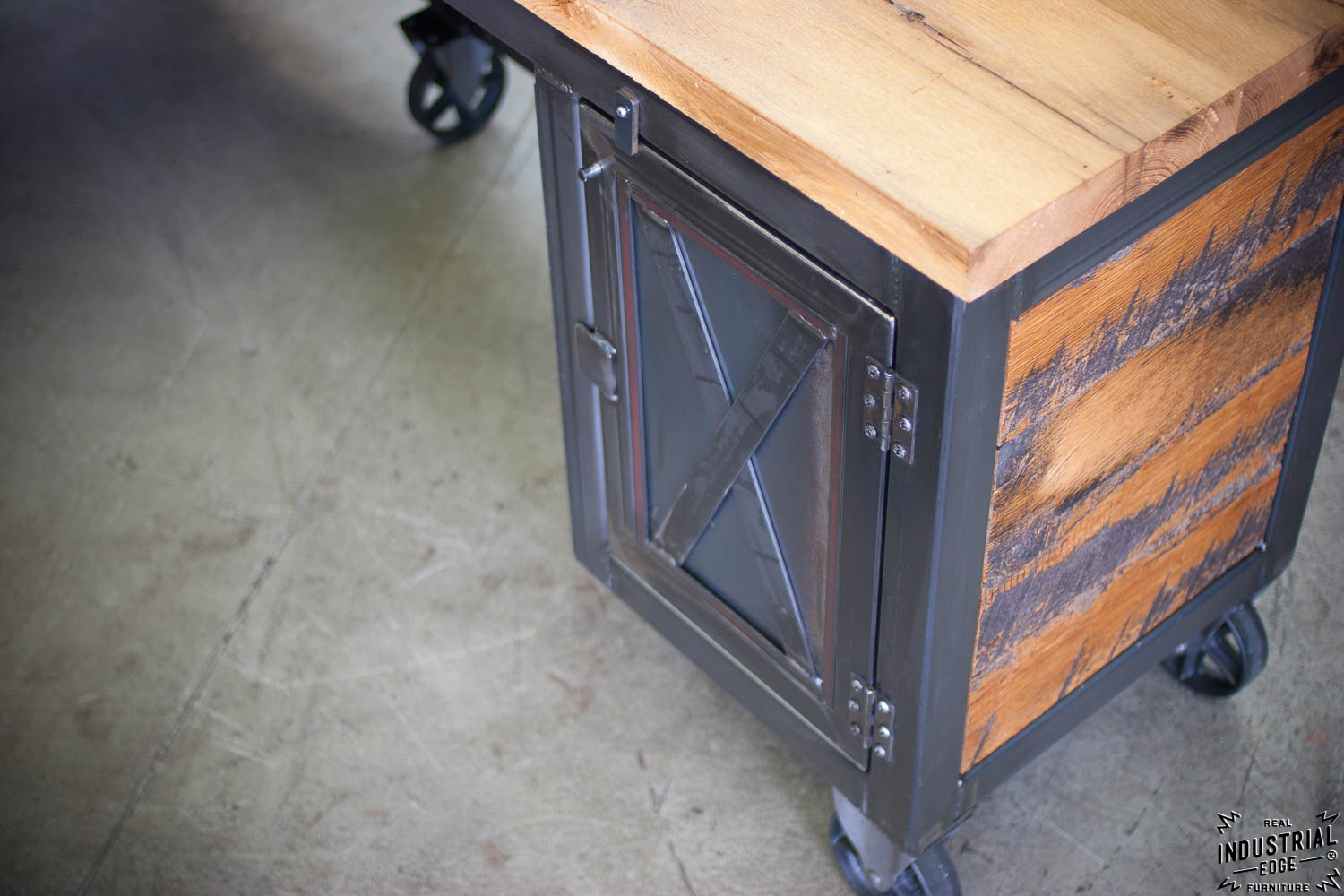 Reclaimed Wood Amp Steel Reception Desk Real Industrial