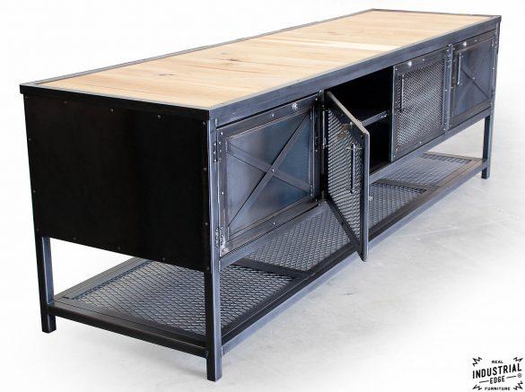 custom industrial kitchen island reclaimed wood amp steel combine 9 industrial furniture industrial kitchen