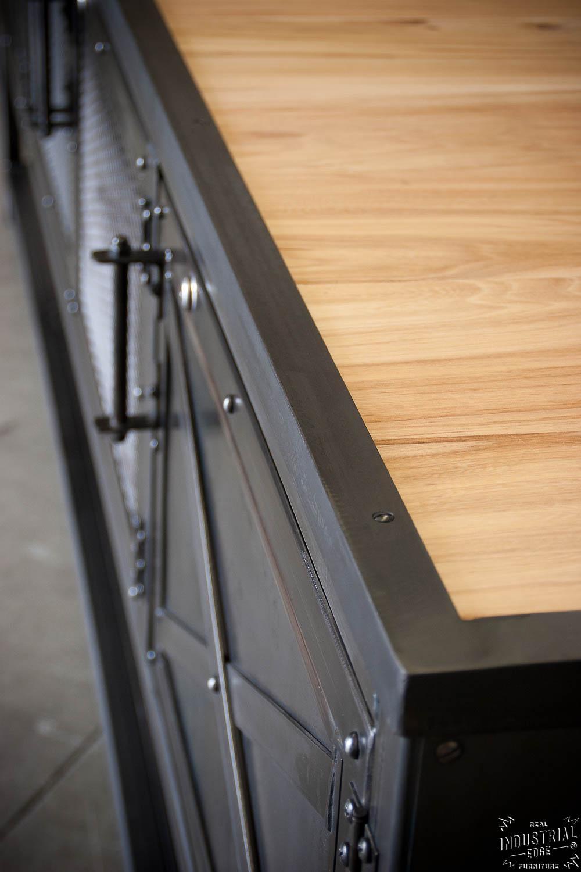 custom industrial kitchen island reclaimed wood u0026 steel u2013 real