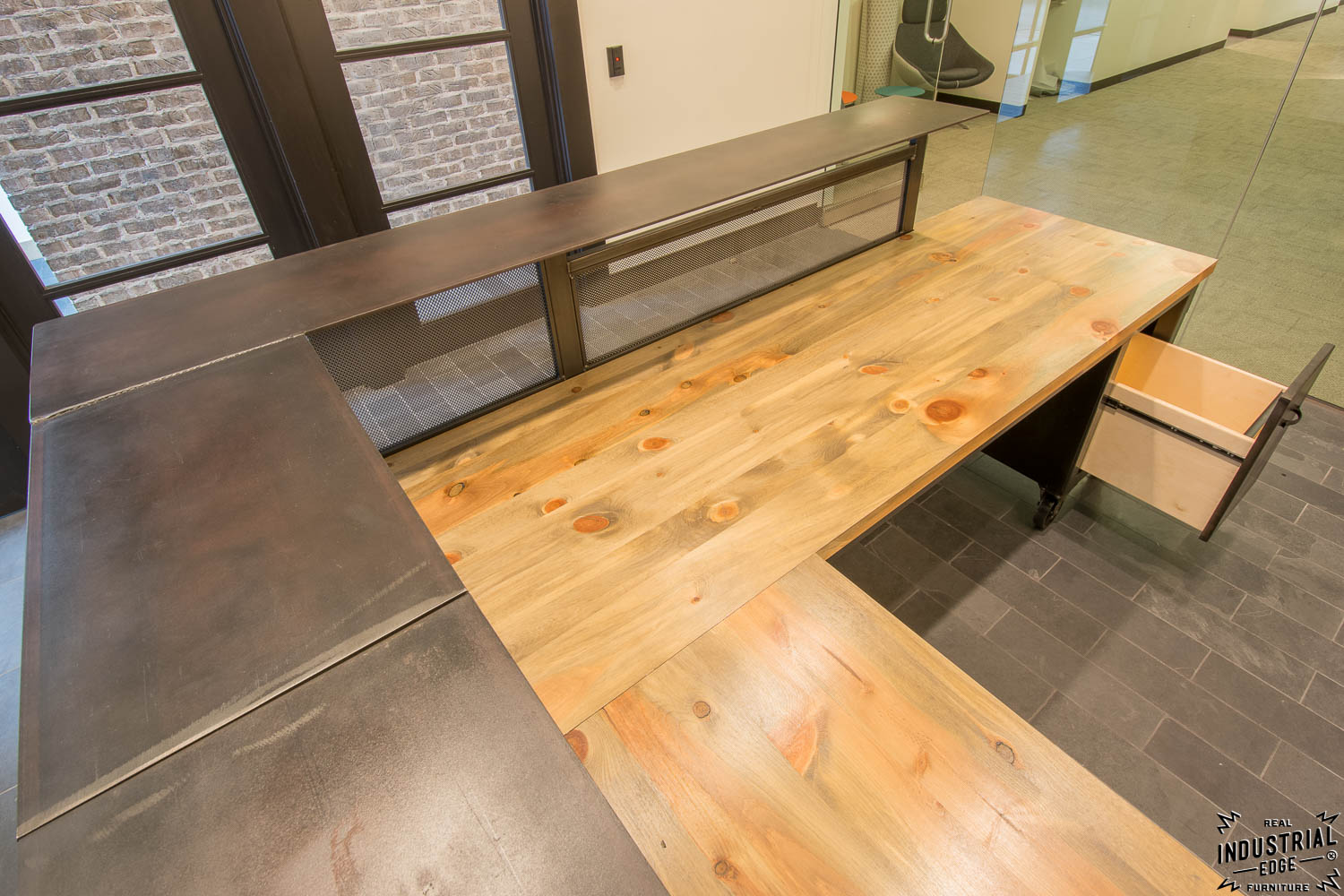 Custom Reception Desk Reclaimed Beetle Kill Tops Real