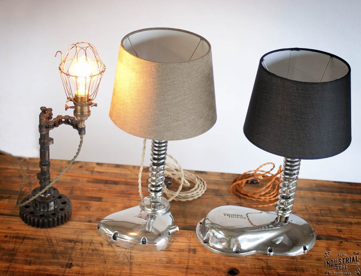Custom Up-cycled Lamps