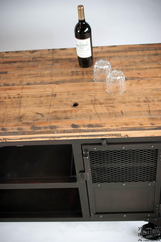 office mini bar. Industrial Mini Bar / Reclaimed Train-Car Floor Top Office H