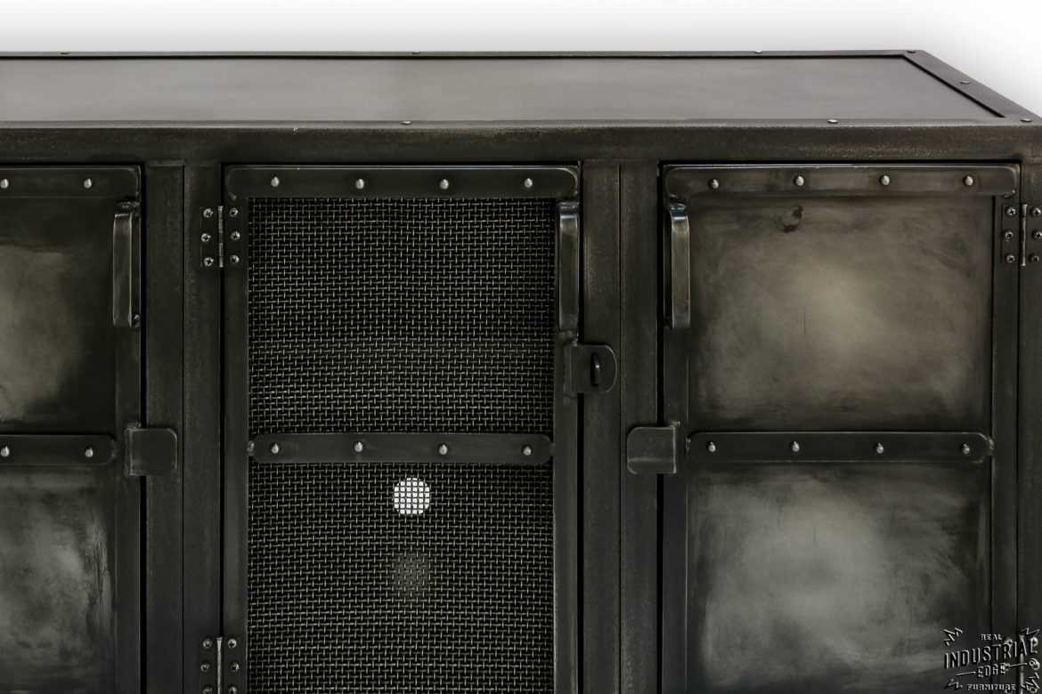 Cold Roll Steel Media Cabinet / Charcoal Patina