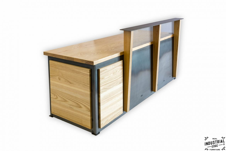 Ash & Steel Reception Desk