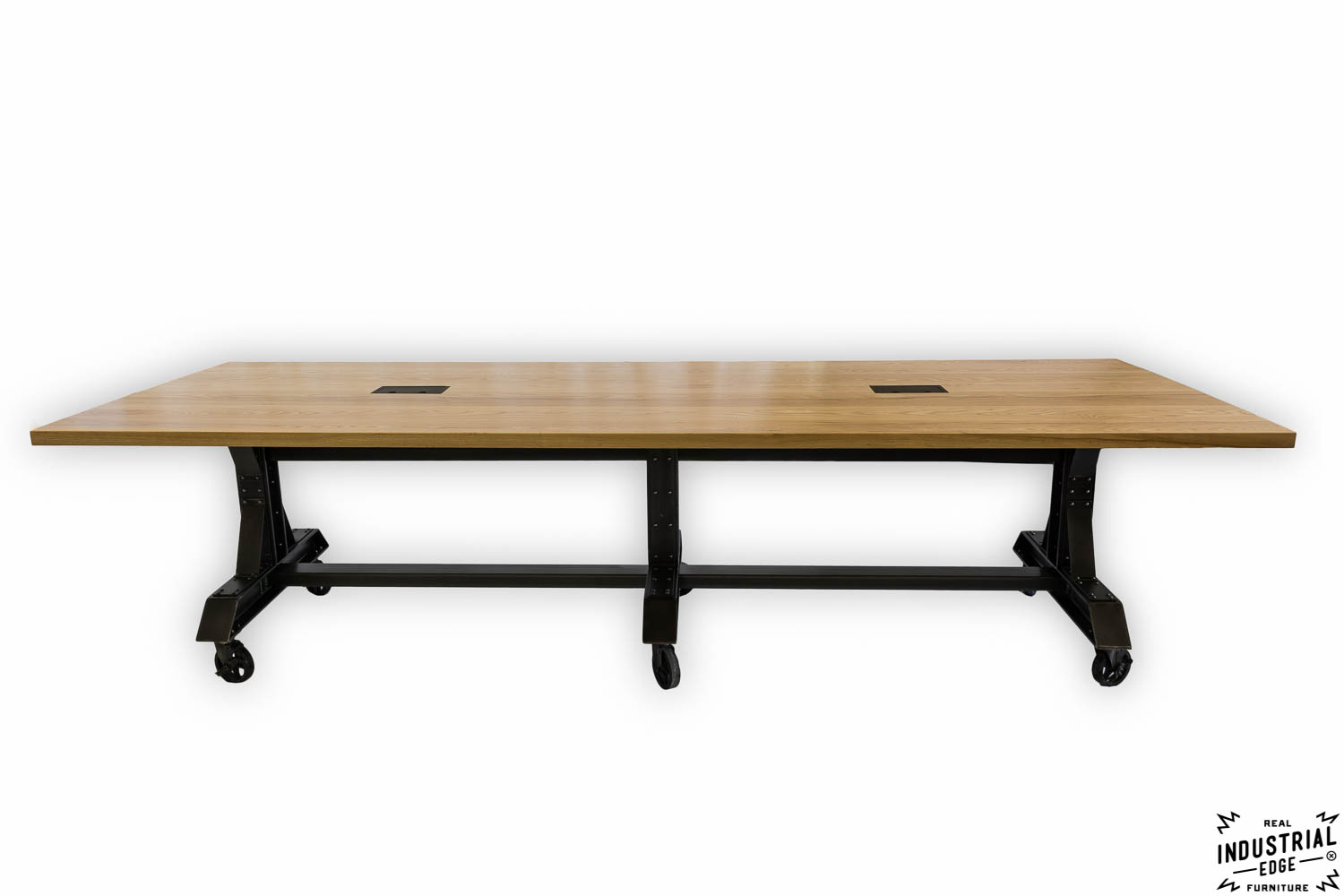 Ash Steel Rolling Conference Table Real Industrial Edge - Rolling conference table
