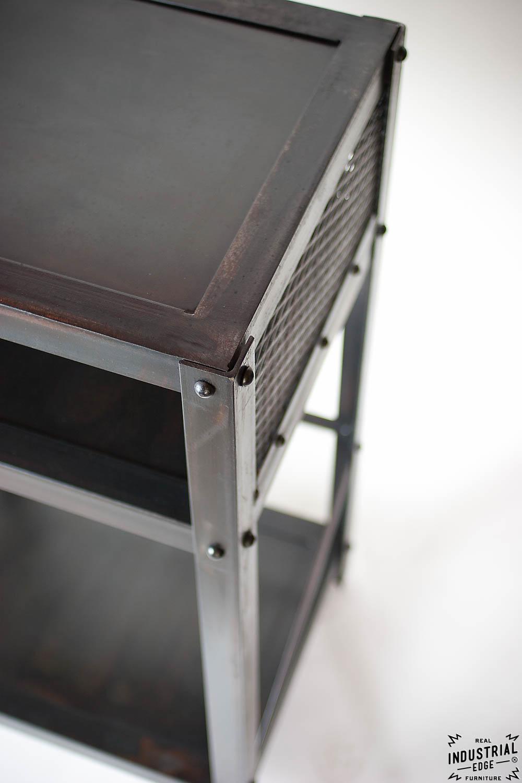 Industrial End Table Steel