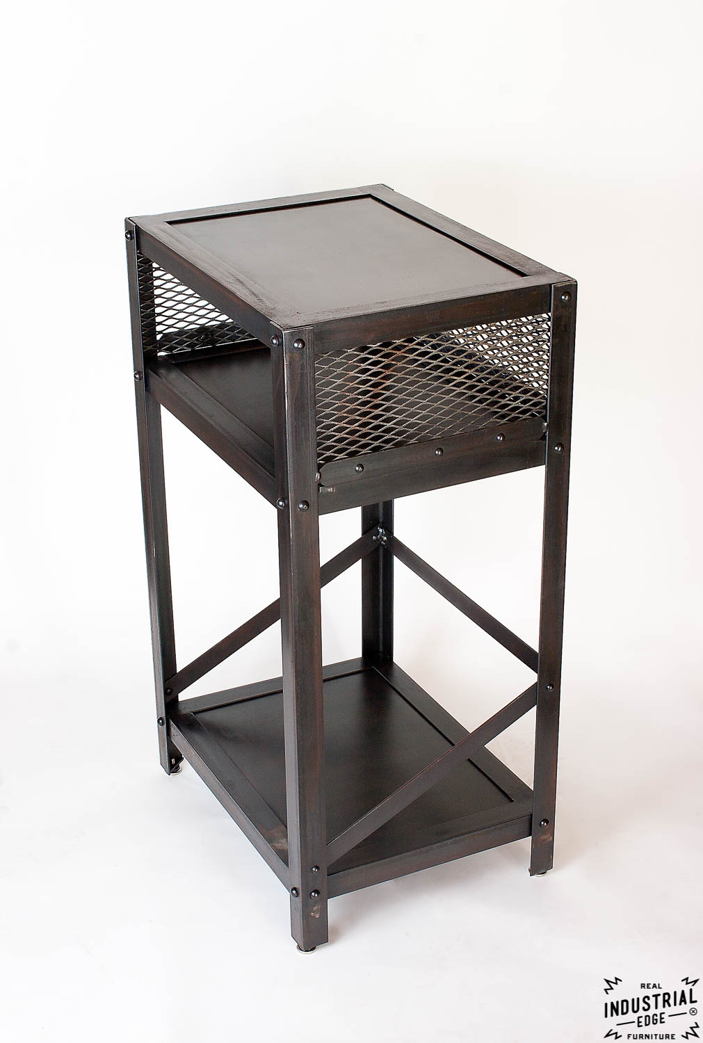 Industrial End Table Steel Real Industrial Edge