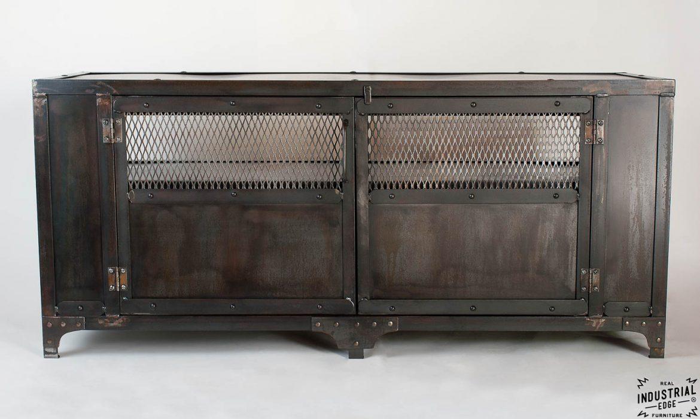 Custom Industrial Media Cabinet / Steel 2 Door