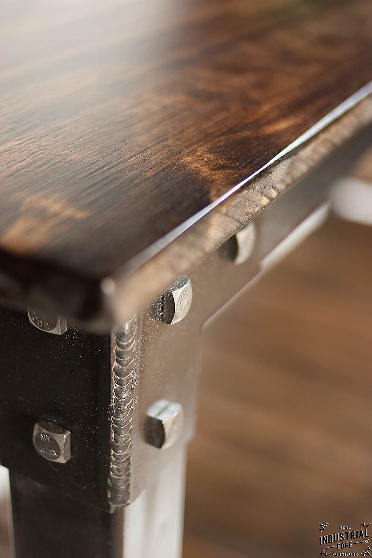 Custom Console Table Steel Amp Wood Real Industrial Edge
