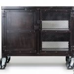 Industrial Rolling Kitchen Cart / Wine Cabinet