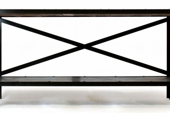 Console Table / Reclaimed Oak & Steel