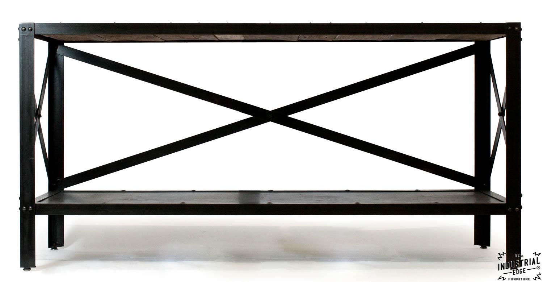 Console Table / Reclaimed Oak U0026 Steel