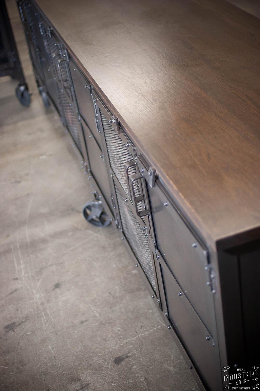 Custom Industrial 9 Foot Rolling Media Cabinet / Wood U0026 Steel