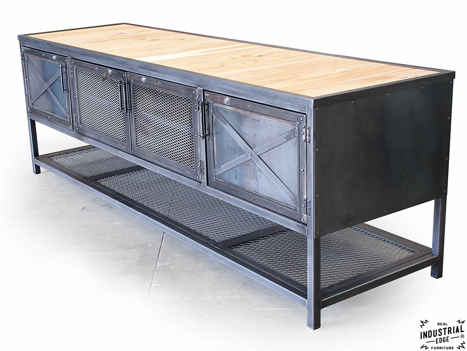 Custom Industrial Kitchen Island Reclaimed Wood Amp Steel