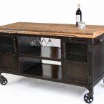 Industrial Mini Bar / Reclaimed Train-Car Floor Top