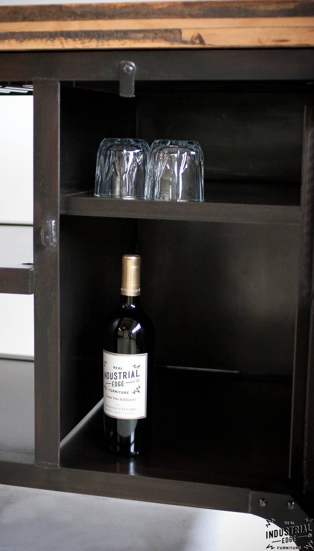 Genial Industrial Mini Bar / Reclaimed Train Car Floor Top