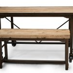 Kitchen Table and Bench / Reclaimed Oak